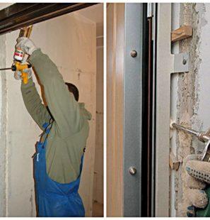 установка металлической входной двери